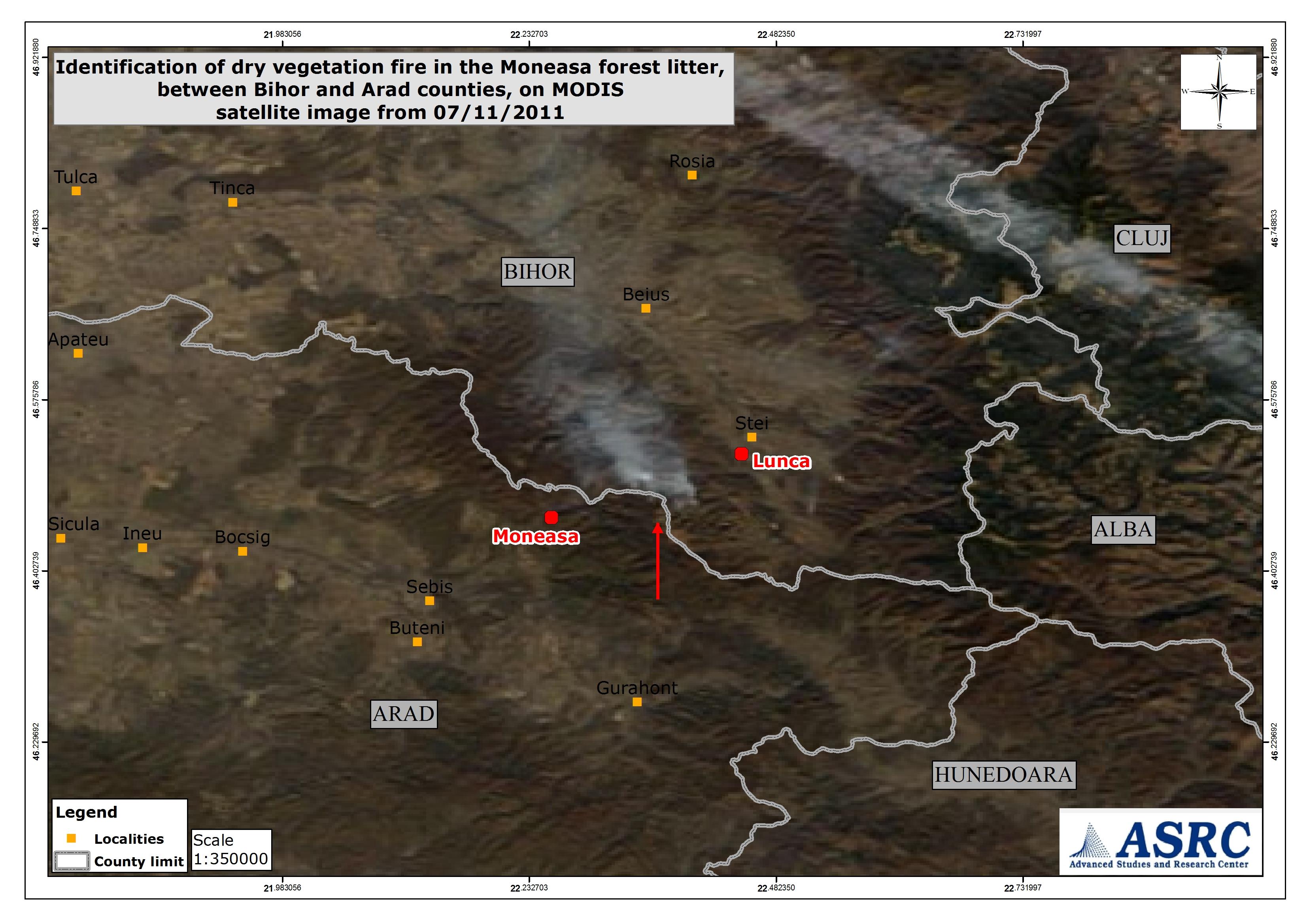 Satellite Wildfire Identification In Moneasa Forest Bihor County Jpg